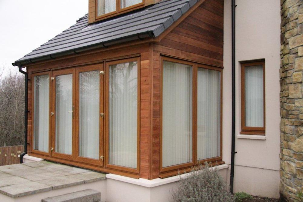 Front porch house extensions helensburgh dg joinery for Enclosed front porch house extension
